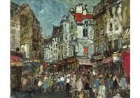 crowd (morning market in paris) by yukio kodama