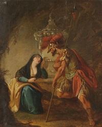 flavianus und seine frau dafrosa (study) by johann zick