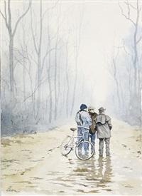 suiveurs en forêt de tronçais by etienne fougeron