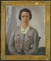 portrait de dame by léon devos