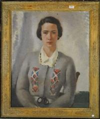portrait de dame by léon devos