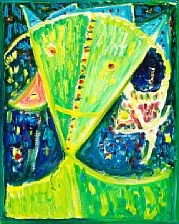 green mask by egill jacobsen