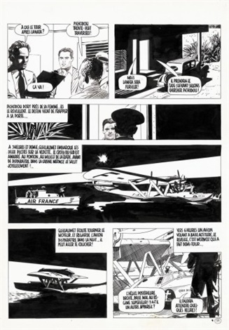 mermoz planche 91 for album by attilio micheluzzi