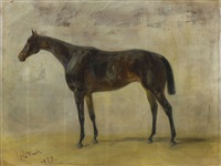 pferd (study) by alois bach