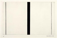 untitled etching # 1 by barnett newman