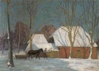 bauernhaus in der wintersonne by rudolf bäumer