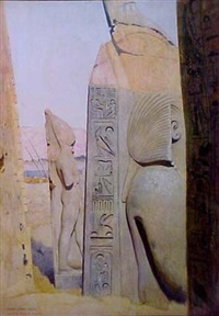 egyptian sculpture site by joseph lindon smith