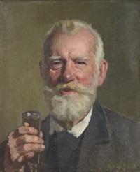 portrait of a celebrating man by nikolaj wassilijewitsch newreff