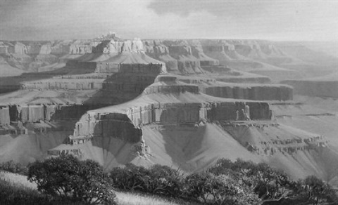 zoroaster's temple, grand canyon by charles h. pabst
