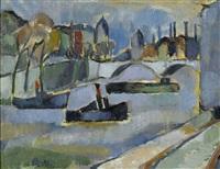 vue du pont neuf by erik theodor werenskiold