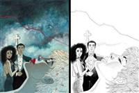 jessica blandy (cover for album satan, ma déchirure; 2 works) by renaud denauw