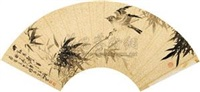 竹动鸟声清 by jiang yu