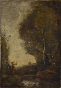 orphée salue la lumière (l'hymne au soleil) by jean-baptiste-camille corot