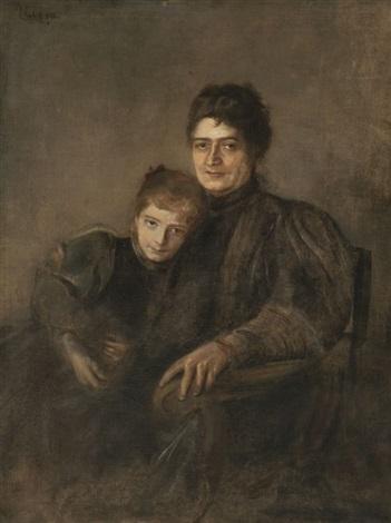 portrait einer mutter mit tochter by franz seraph von lenbach
