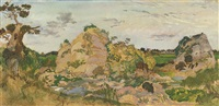 landscape near roquebrune, provence by charles sims