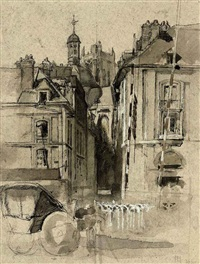view of dieppe by francis ernest jackson
