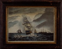 maritime scene by c.p. averill