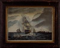 maritime scene by c.p. averill