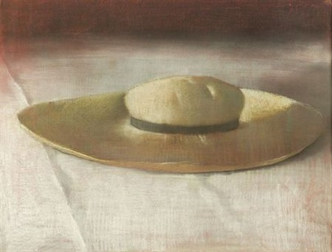 Planters hat by Julio Larraz on artnet on stove top hat, 3 musketeers hat, art hat,