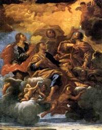 i santi quattro coronati in gloria by ludovico mazzanti