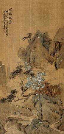 云树秋岚 by huang shanshou