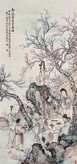 春夜宴桃李园图 by xu ju'an