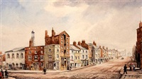 lord street, south side (+ shaw's brow, looking east; 2 works) by william gawin herdman