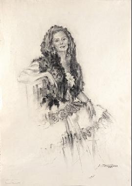 mujer con mantilla by josé josep aguilera martí