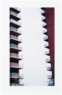 housing projects, ny (+ another, lrgr; 2 works) by dan graham