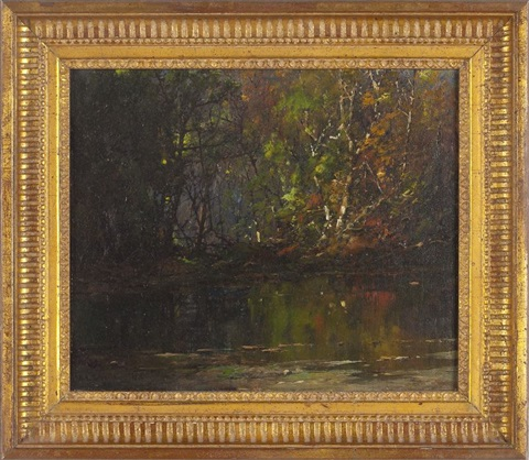 forest pond by william louis sonntag