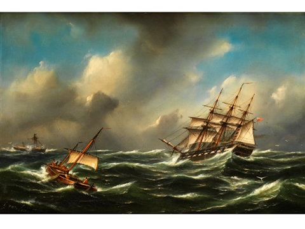 segelschiffe im sturm by govert van emmerik