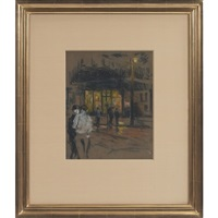 new york street scene by bernard gussow