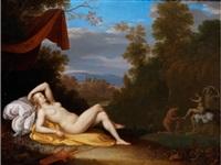 schlafende diana mit badenden nymphen by daniel vertangen
