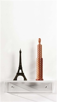untitled (eiffel tower, pepper mill) by haim steinbach