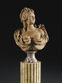 bust of a noblewoman by augustin pajou