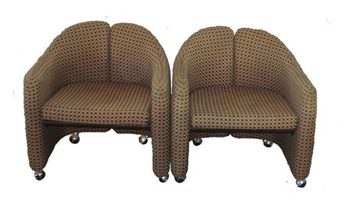 Series 142 tub chairs pair by Eugenio Gerli on artnet