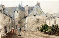 brittany village by norman garstin