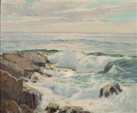 crashing waves by camillo adriani
