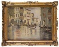 veduta di canale a venezia by istvan kreesman