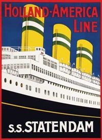 holland-america line s.s. statendam by c. jocker