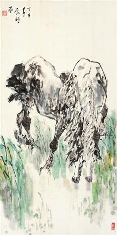 骏马图 horses by liu boshu