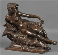 cupid disarmed by diana by jules-felix coutan