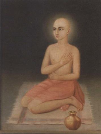 portrait of sri krishna chaitanya mahaprabhu as gaurasundar by indian school bengal 19