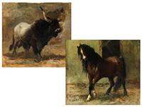 pferd und bulle (pair) by giuseppe raggio