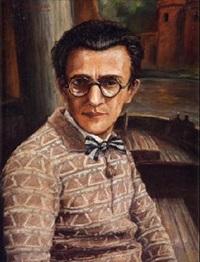 retrato de joven con gafas by manuel abelenda