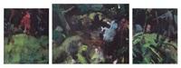 unter den bäumen (+ 2 others; triptych) by bernd koberling