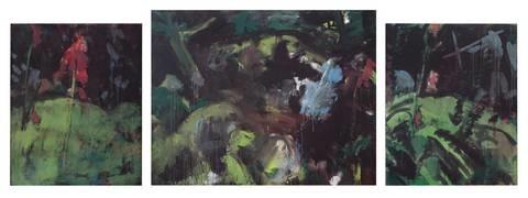 unter den bäumen 2 others triptych by bernd koberling