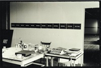 artist's studio, n. y. in 1966 (from whole and parts) by on kawara