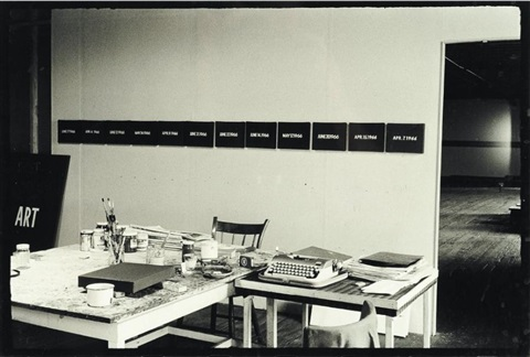 artists studio n y in 1966 from whole and parts by on kawara