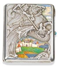 pictorial cigarette case by egor (georgii) tarasovich samoshin